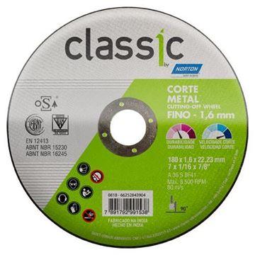 Imagen de Disco corte 180 x 1.6 x 22.2 mm CLASSIC NORTON