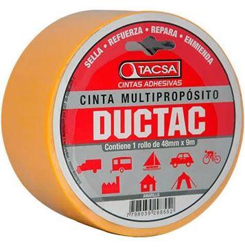 Imagen de Cinta multiuso amarilla 9m 0.21mm DUCTAC