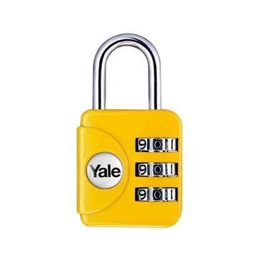 Imagen de Candado combinación amarillo YALE