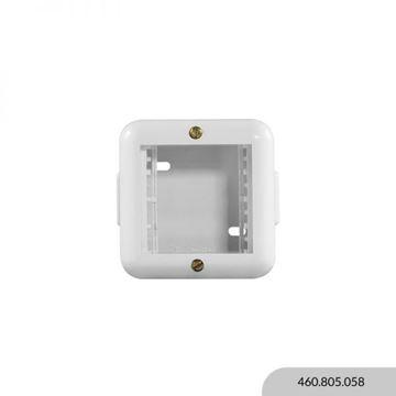 Imagen de Caja exterior blanca 2 módulos REGGIO