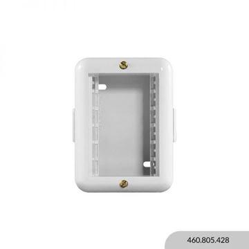 Imagen de Caja exterior marfil 3 módulos REGGIO