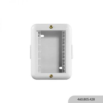 Imagen de Caja exterior blanca 3 módulos REGGIO