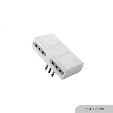 Imagen de Adaptador 4 2P + T 10A blanco ELECTRALINE