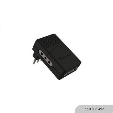 Imagen de Adaptador plano 3 2P + T 10A negro ELECTRALINE
